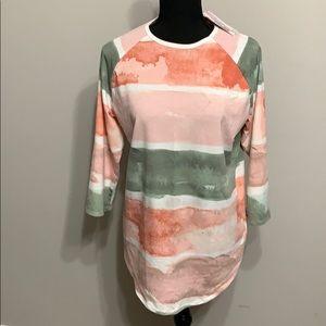 NWT Randy Raglan Shirt in Watercolors